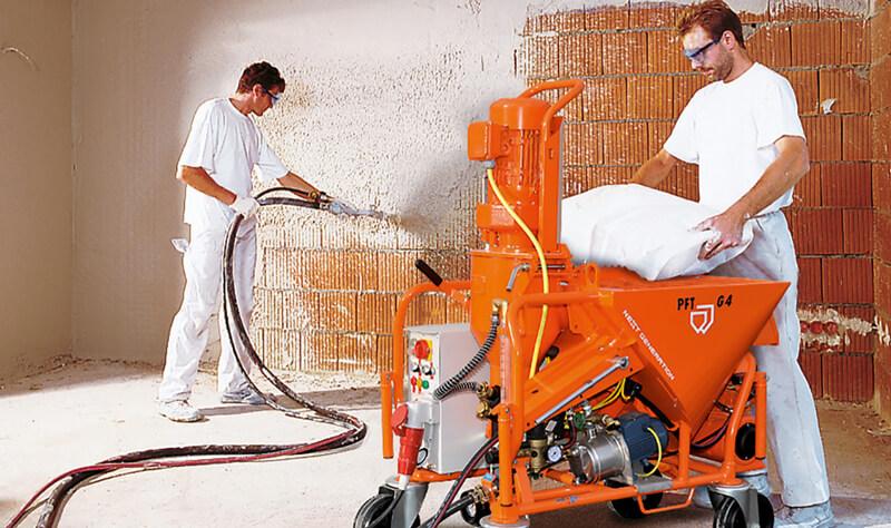 PFT plastering machines